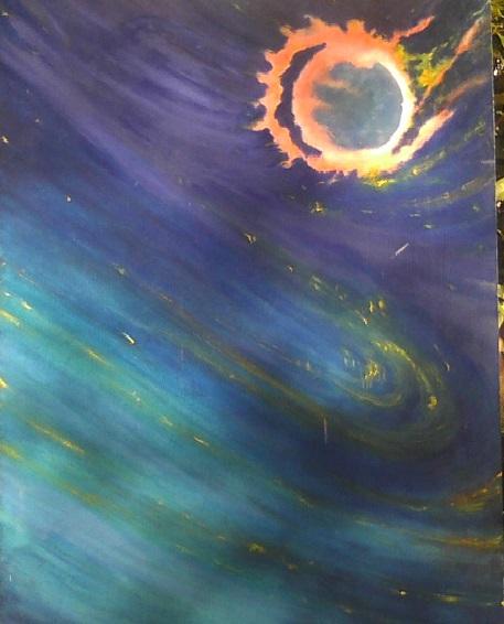 """Helix Nebula /30"""" x 30"""""""
