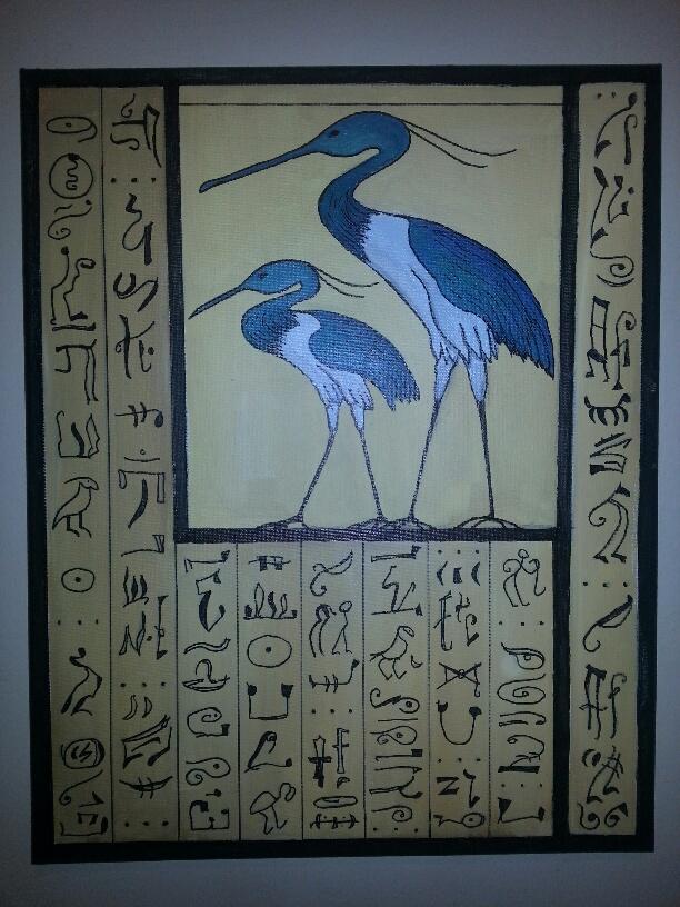 """Blue Herons/16"""" x 20"""""""