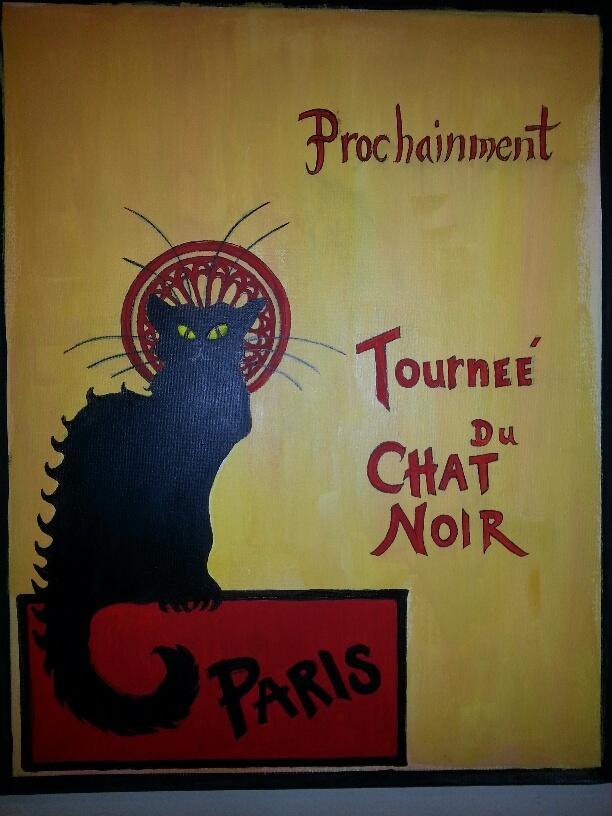 """Chat Noir/16"""" x 20"""""""