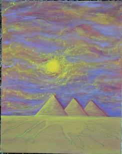 "Egyptian Sandstorm/16""x 20"""
